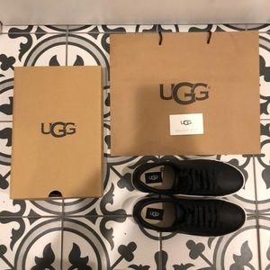 NWT/NIB Black Leather Ugg Sneakers